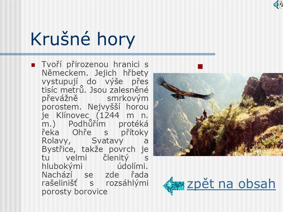 Pohoří Krušné hory Slavkovský les zpět na obsah