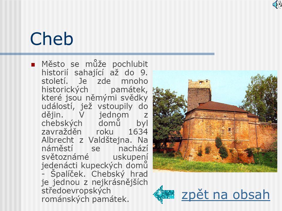 Cheb Město se může pochlubit historií sahající až do 9.