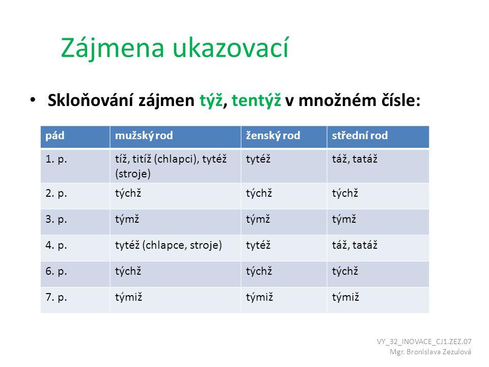 Doporučená literatura k opakování MAŠKOVÁ, Drahuše.