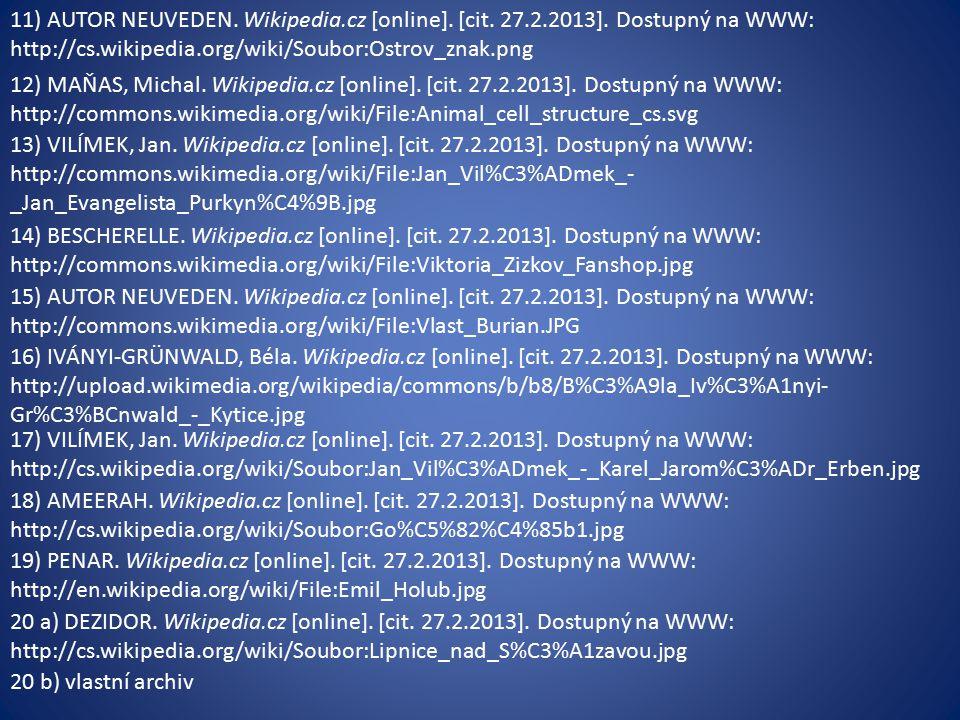 11) AUTOR NEUVEDEN. Wikipedia.cz [online]. [cit.
