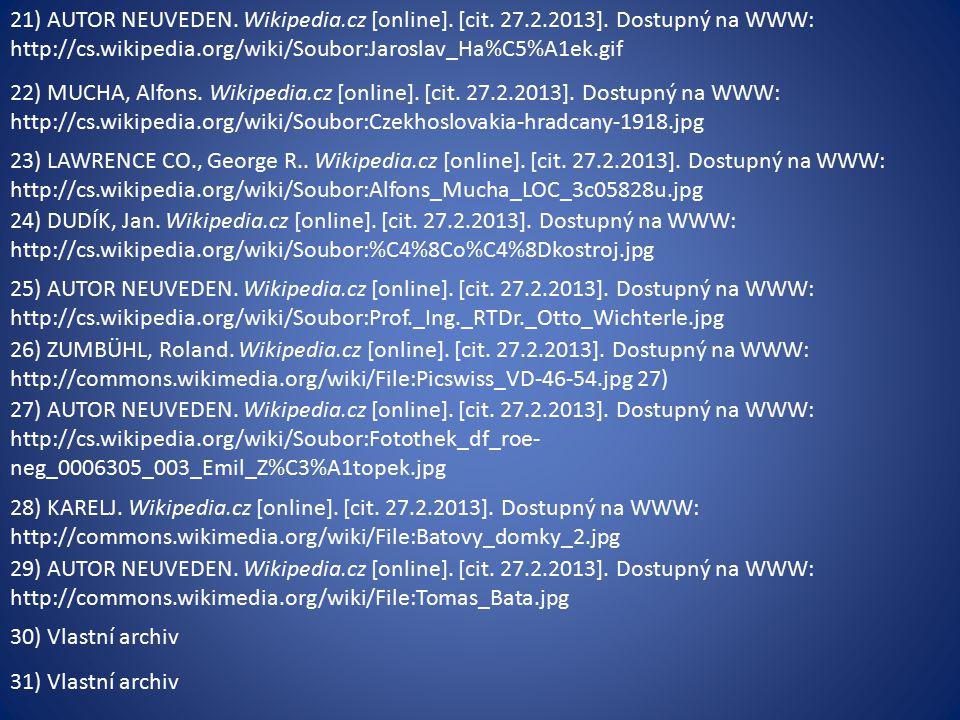 21) AUTOR NEUVEDEN. Wikipedia.cz [online]. [cit.
