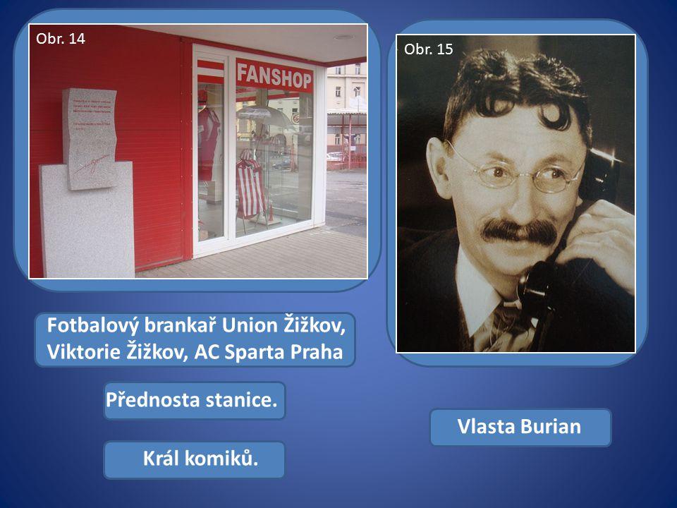 Fotbalový brankař Union Žižkov, Viktorie Žižkov, AC Sparta Praha Přednosta stanice.
