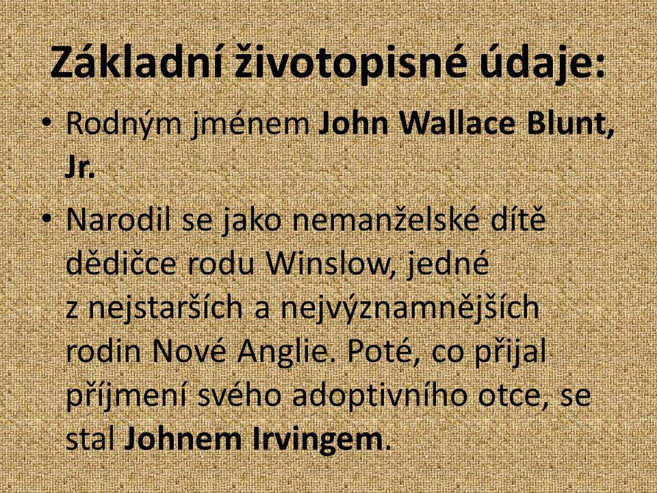 Základní životopisné údaje: Rodným jménem John Wallace Blunt, Jr.
