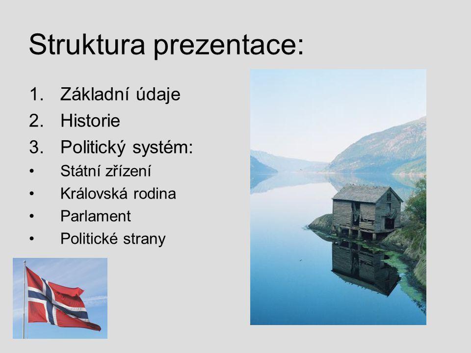 Struktura prezentace: 1.Základní údaje 2.Historie 3.Politický systém: Státní zřízení Královská rodina Parlament Politické strany