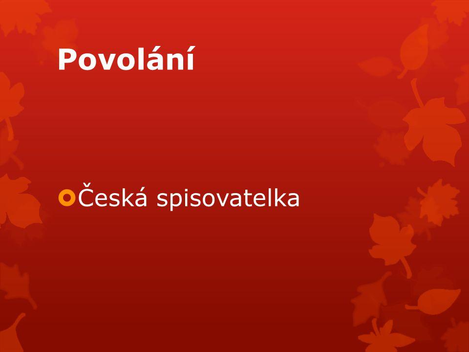 Povolání  Česká spisovatelka
