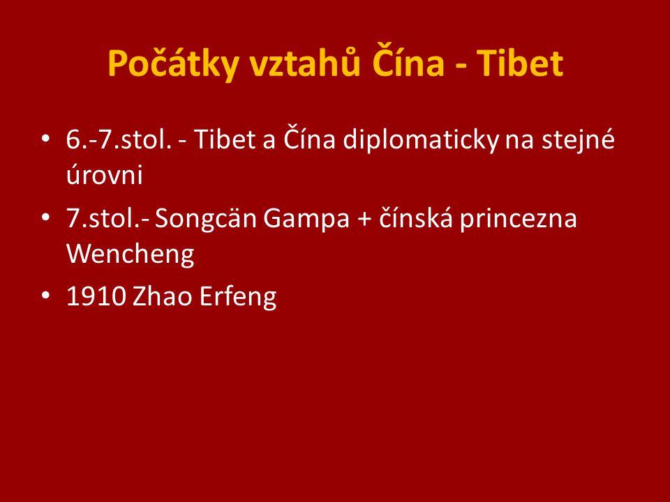 Počátky vztahů Čína - Tibet 6.-7.stol.