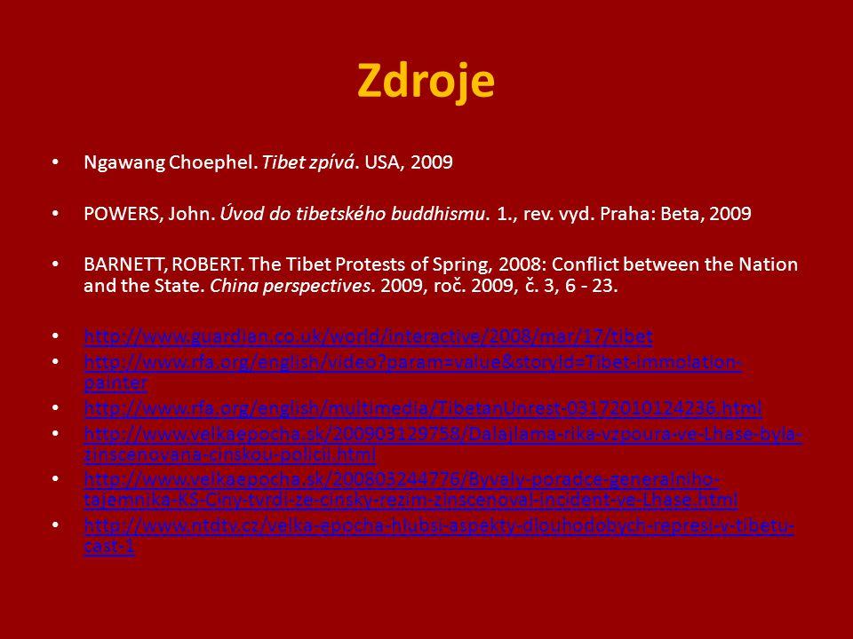 Zdroje Ngawang Choephel. Tibet zpívá. USA, 2009 POWERS, John.