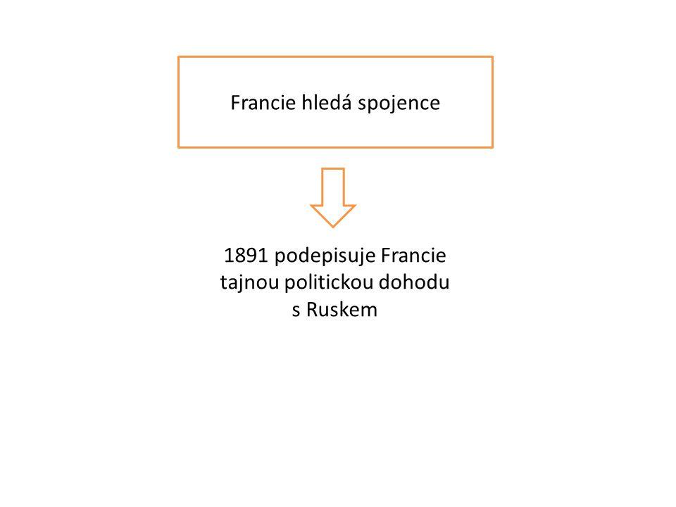 Francie hledá spojence 1891 podepisuje Francie tajnou politickou dohodu s Ruskem