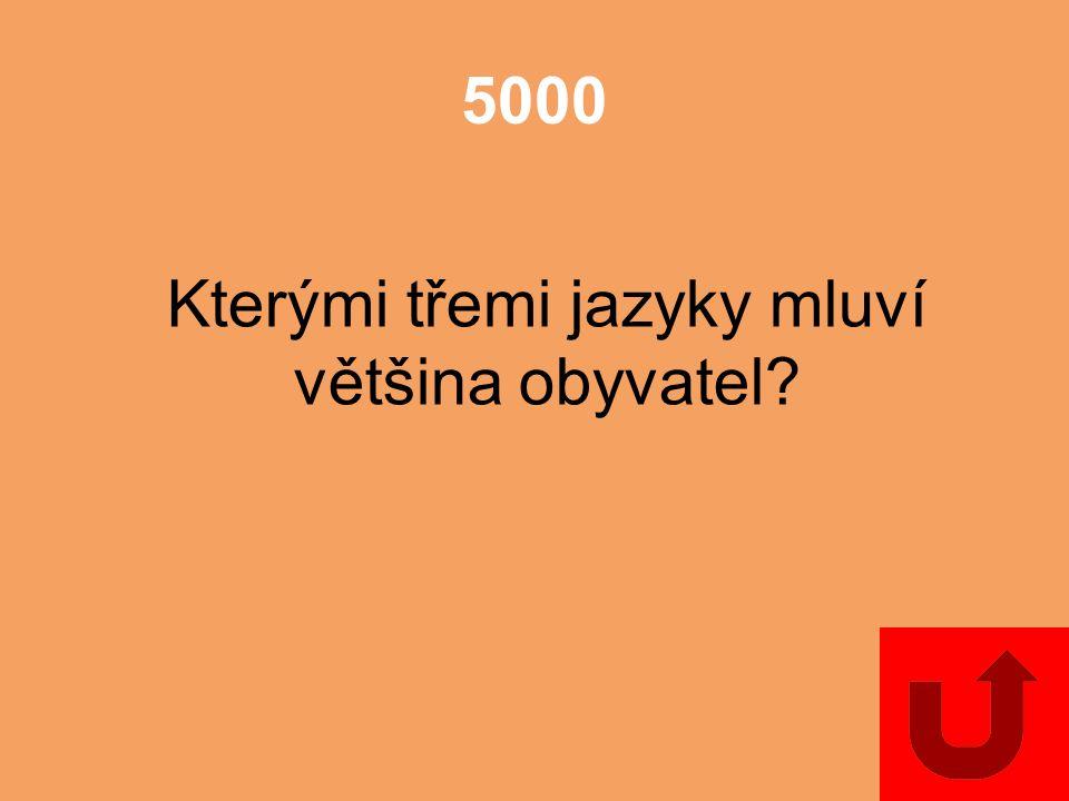 5000 Kterými třemi jazyky mluví většina obyvatel?