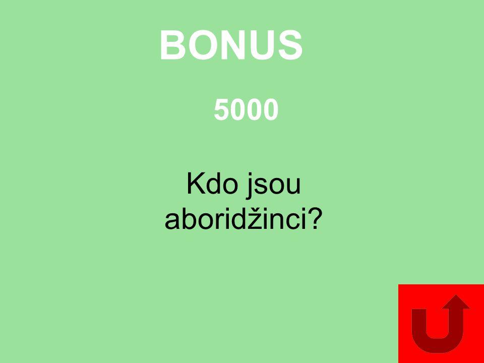 BONUS Kdo jsou aboridžinci? 5000