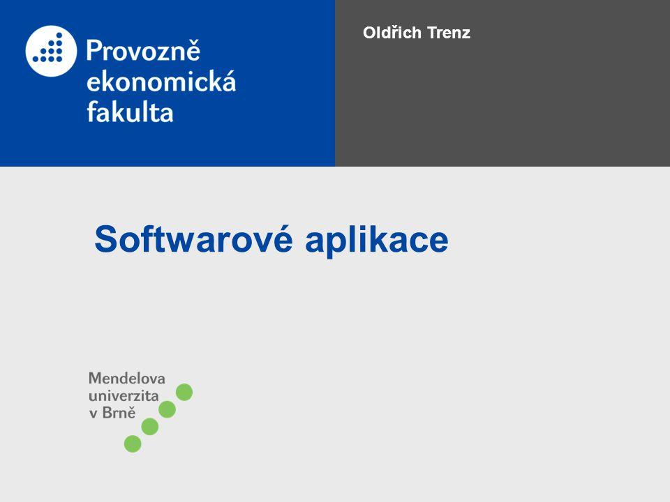 Softwarové aplikace Oldřich Trenz