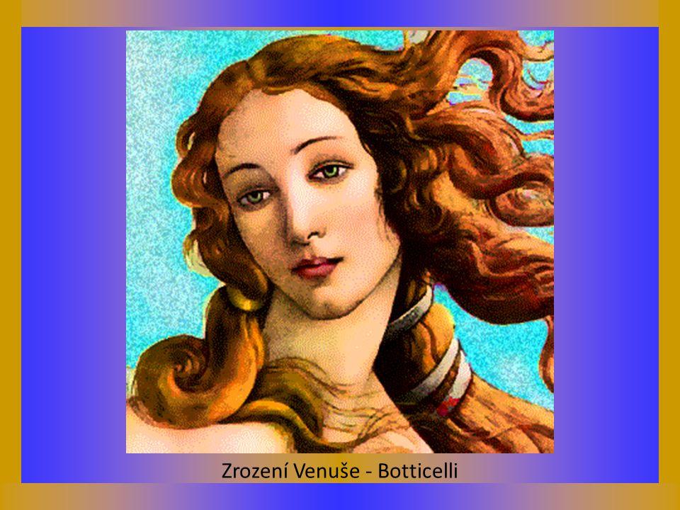 Zrození Venuše - Botticelli