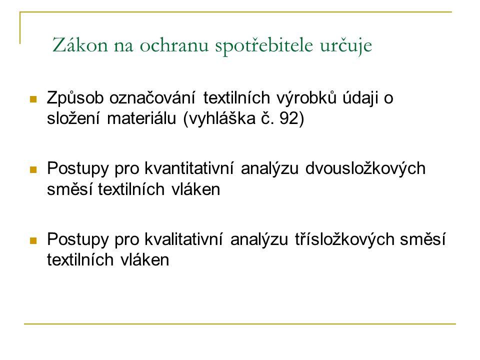 Označování textilních výrobků složených ze dvou a více částí §7 2.