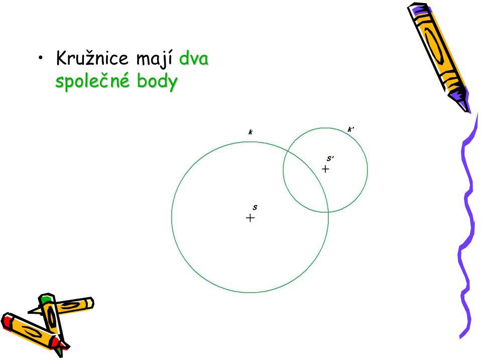 Příklady Pojmenuj jednotlivé části kružnice:
