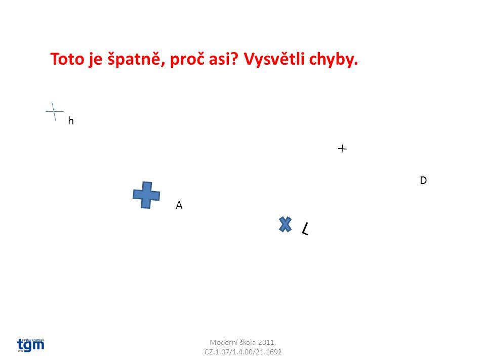 Moderní škola 2011, CZ.1.07/1.4.00/21.1692 Vyznač různé body a pojmenuj je.