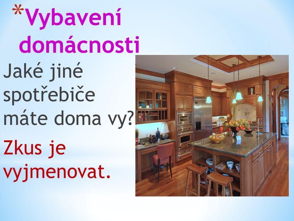 * Vybavení domácnosti Jaké jiné spotřebiče máte doma vy? Zkus je vyjmenovat.