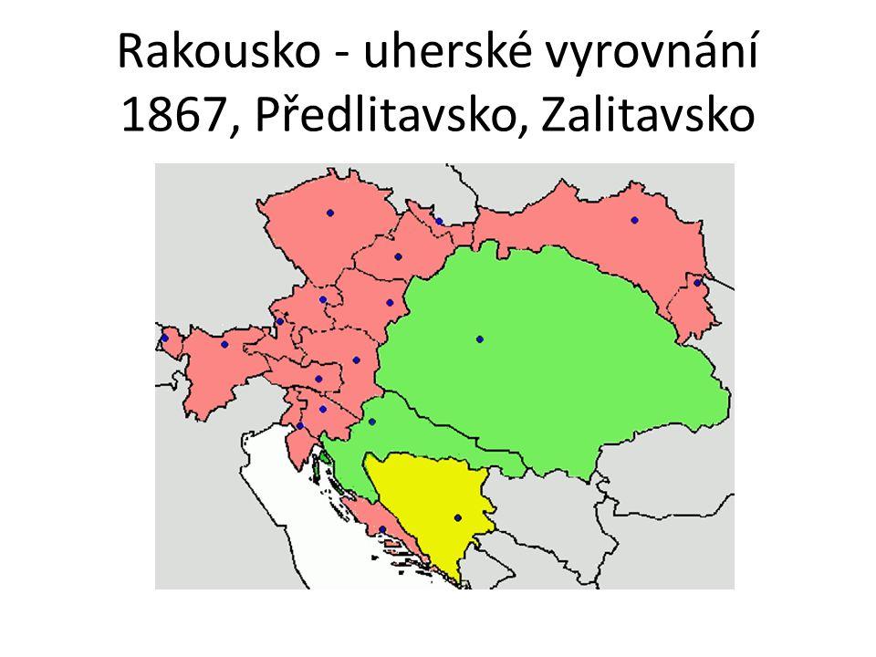 Rakousko - uherské vyrovnání 1867, Předlitavsko, Zalitavsko