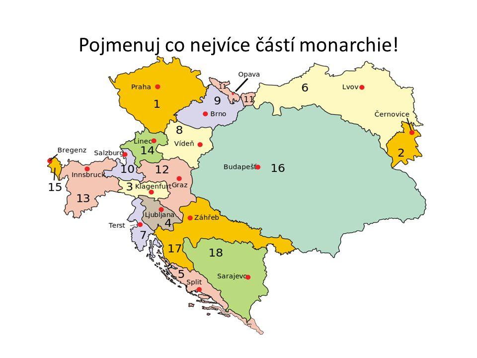 Pojmenuj co nejvíce částí monarchie!