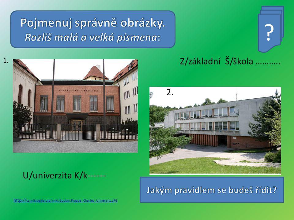 Z/základní Š/škola ……….. 1.
