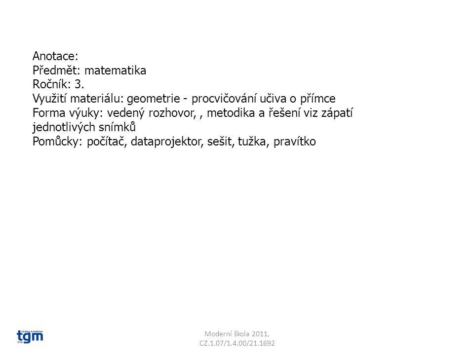 Moderní škola 2011, CZ.1.07/1.4.00/21.1692 Které přímky jsou správné? B k n t M h P