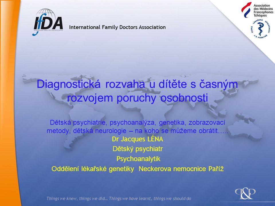 2 Systematické vyhledávání známých dědičných onemocnění u 126 adolescentů a mladých dospělých v denním stacionáři a pečovatelských zařízeních Věk 13 / 25 průměr 18 let Dg: těžké poruchy osobnosti, výrazné poruchy vývoje, mentální retardace Počet pacientů včetně hospitalizovnaých 130 Odmítlo genetické vyšetření 8 Počet vyšetřovaných pacientů - hospitali zováno 122 – příbuz.
