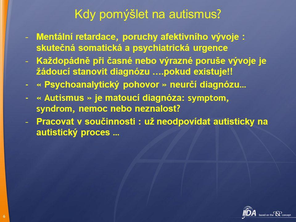 6 Kdy pomýšlet na autismus .