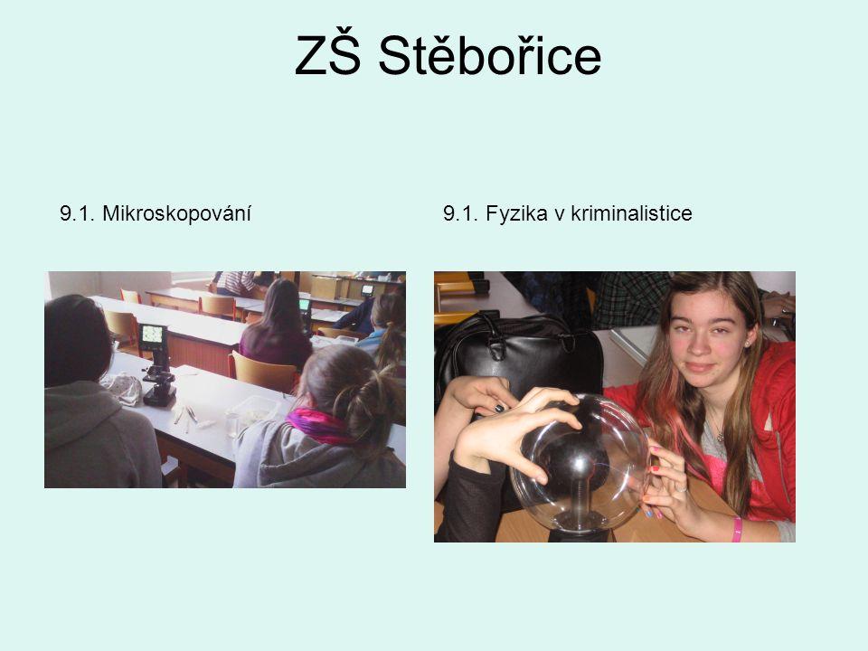 ZŠ Stěbořice 9.1. Mikroskopování9.1. Fyzika v kriminalistice
