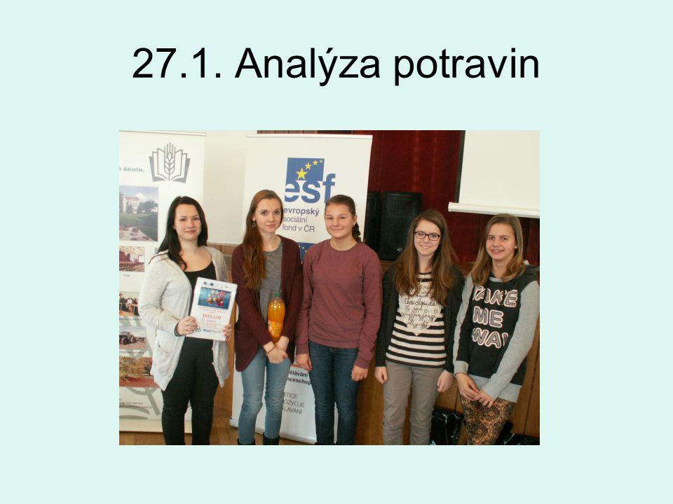 27.1. Analýza potravin