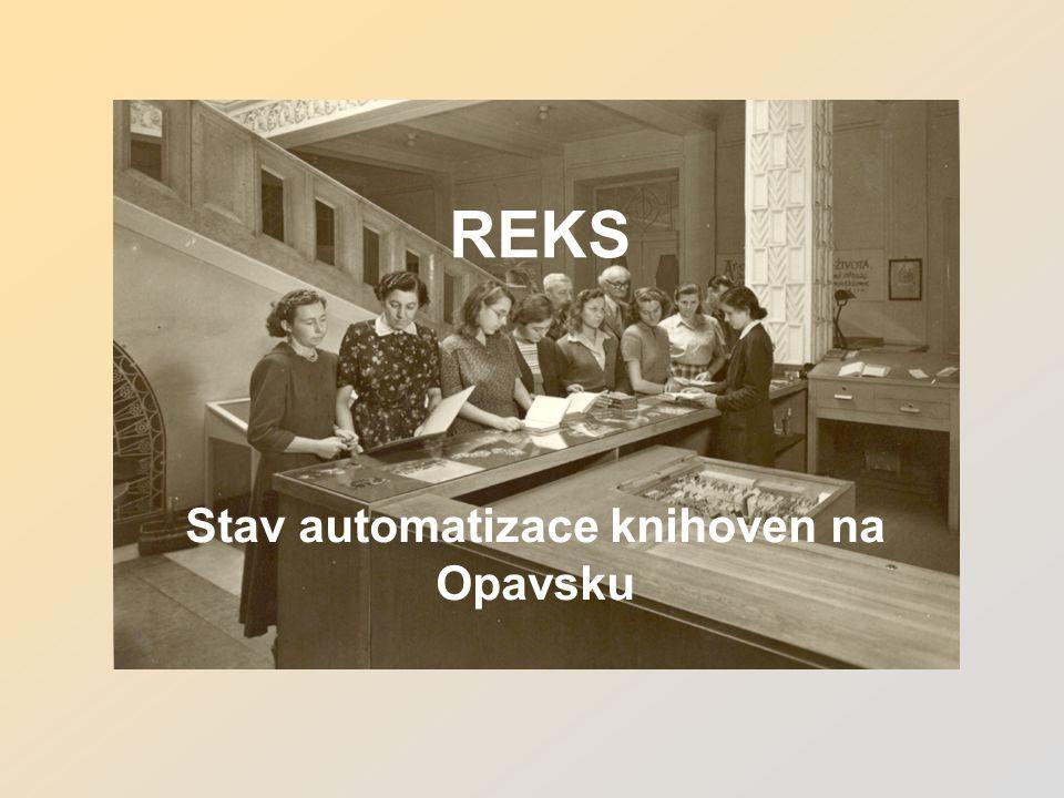 REKS Stav automatizace knihoven na Opavsku