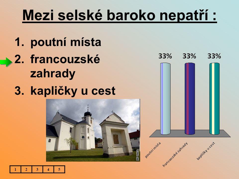 Známá barokní lékárna se dochovala : 12345 1.v Klatovech 2.v Hořovicích 3.v Berouně