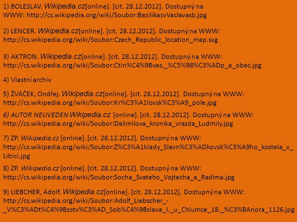 1) BOLESLAV. Wikipedia.cz [online]. [cit. 28.12.2012].