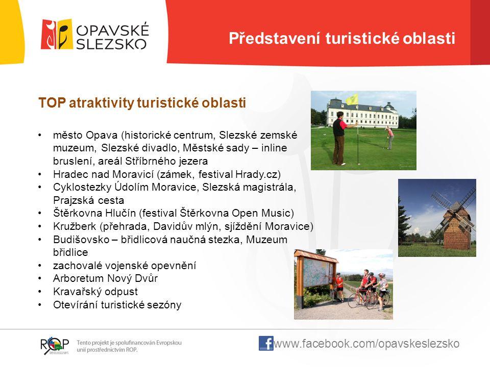 Představení turistické oblasti TOP atraktivity turistické oblasti město Opava (historické centrum, Slezské zemské muzeum, Slezské divadlo, Městské sad