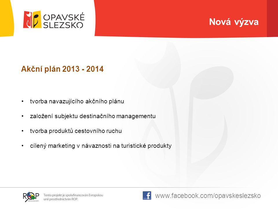 Nová výzva Akční plán 2013 - 2014 tvorba navazujícího akčního plánu založení subjektu destinačního managementu tvorba produktů cestovního ruchu cílený