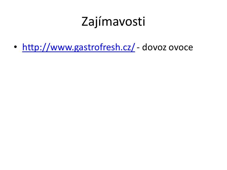 Zajímavosti http://www.gastrofresh.cz/ - dovoz ovoce http://www.gastrofresh.cz/