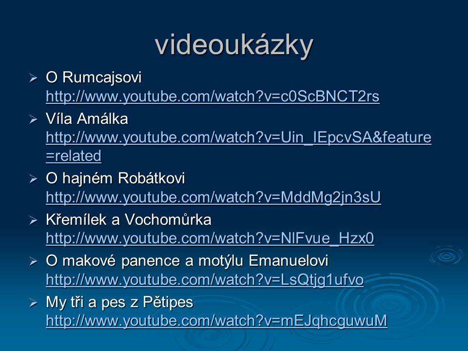 Použité zdroje:   ČTVRTEK, V. Rumcajs. 2.vyd. Praha: Albatros, 1972. 13-832-72 s. 32-33