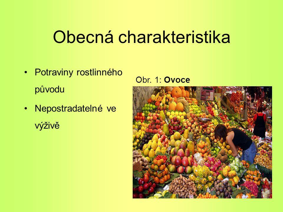 Obecná charakteristika Potraviny rostlinného původu Nepostradatelné ve výživě Obr. 1: Ovoce