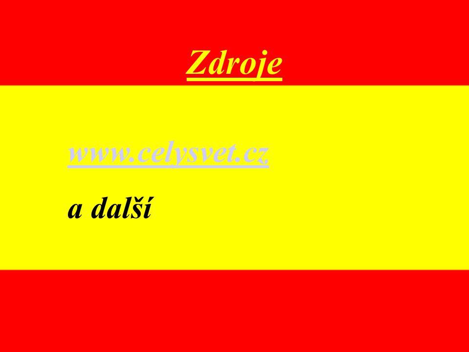 Zdroje www.celysvet.cz a další