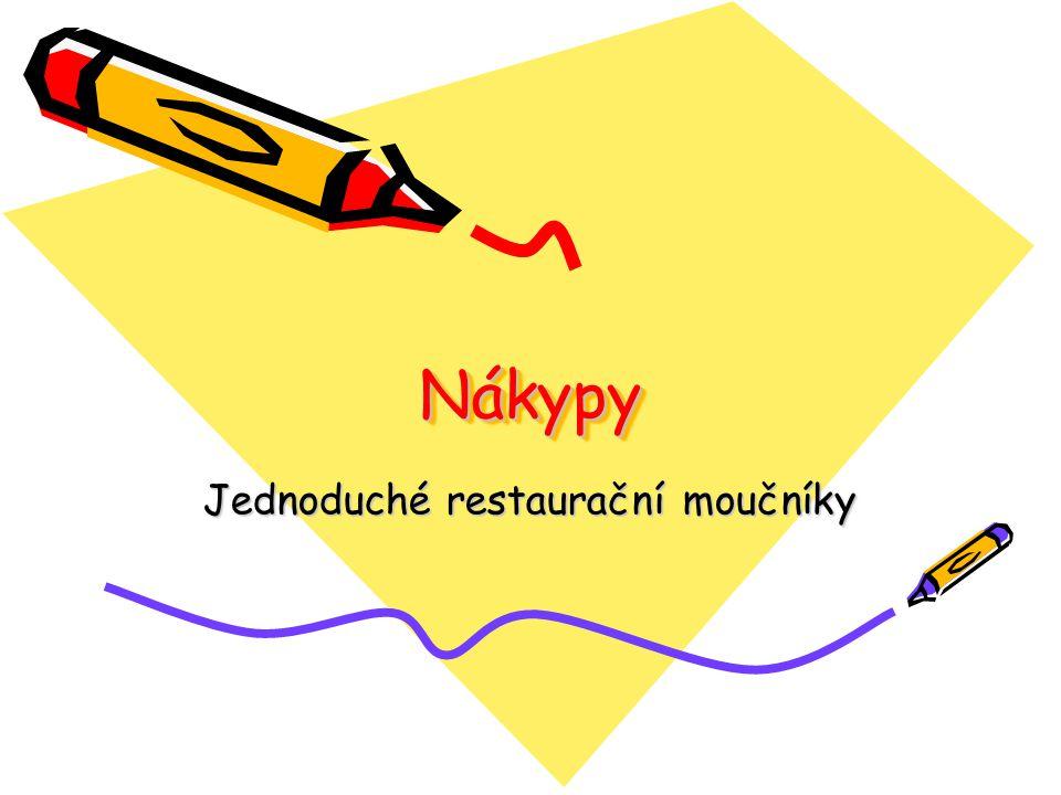 NákypyNákypy Jednoduché restaurační moučníky