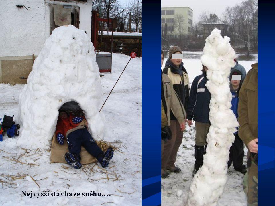 Nejvyšší stavba ze sněhu,…