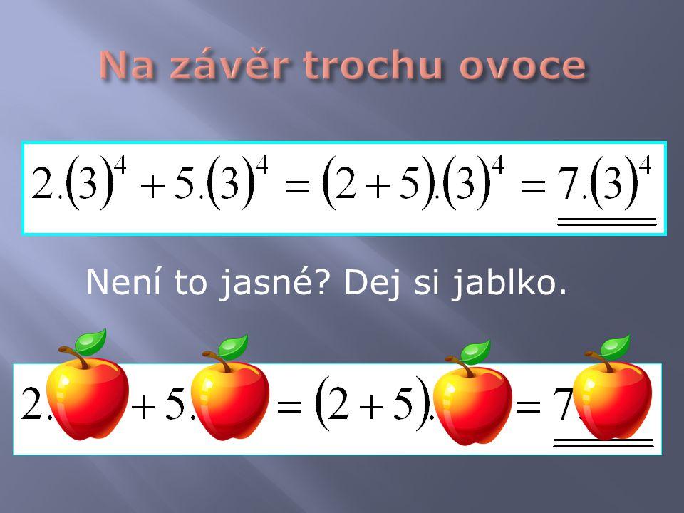 Není to jasné Dej si jablko.