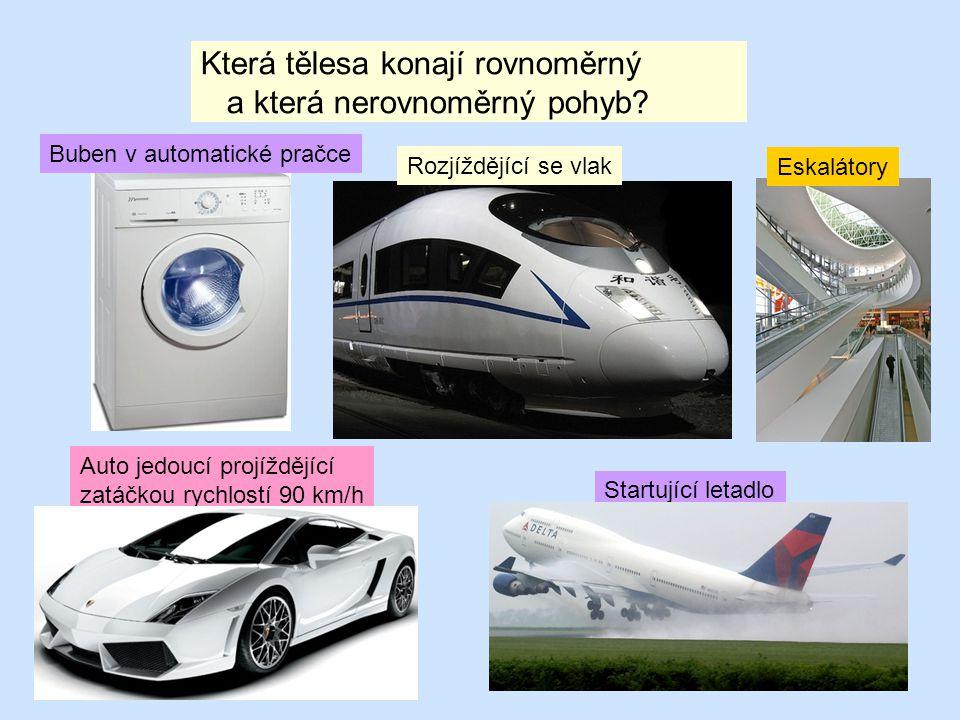 A JEŠTĚ NĚCO NAVÍC: Zrychlení : ………má auto, letadlo či vlak při rozjezdu ( při brždění má také zrychlení, ale opačným směrem), ………..má značku a, ……….je rovno změně rychlosti vydělené časem výpočet dráhy z grafu Obsah plochy pod grafem je roven celkové dráze s = 6.