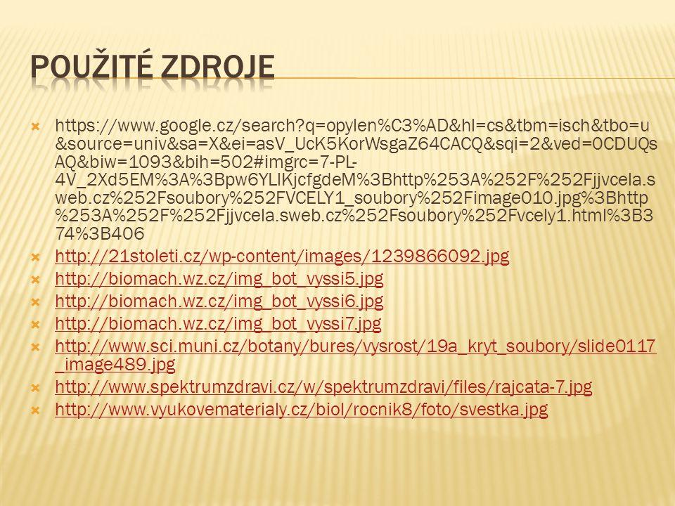  https://www.google.cz/search q=opylen%C3%AD&hl=cs&tbm=isch&tbo=u &source=univ&sa=X&ei=asV_UcK5KorWsgaZ64CACQ&sqi=2&ved=0CDUQs AQ&biw=1093&bih=502#imgrc=7-PL- 4V_2Xd5EM%3A%3Bpw6YLlKjcfgdeM%3Bhttp%253A%252F%252Fjjvcela.s web.cz%252Fsoubory%252FVCELY1_soubory%252Fimage010.jpg%3Bhttp %253A%252F%252Fjjvcela.sweb.cz%252Fsoubory%252Fvcely1.html%3B3 74%3B406  http://21stoleti.cz/wp-content/images/1239866092.jpg http://21stoleti.cz/wp-content/images/1239866092.jpg  http://biomach.wz.cz/img_bot_vyssi5.jpg http://biomach.wz.cz/img_bot_vyssi5.jpg  http://biomach.wz.cz/img_bot_vyssi6.jpg http://biomach.wz.cz/img_bot_vyssi6.jpg  http://biomach.wz.cz/img_bot_vyssi7.jpg http://biomach.wz.cz/img_bot_vyssi7.jpg  http://www.sci.muni.cz/botany/bures/vysrost/19a_kryt_soubory/slide0117 _image489.jpg http://www.sci.muni.cz/botany/bures/vysrost/19a_kryt_soubory/slide0117 _image489.jpg  http://www.spektrumzdravi.cz/w/spektrumzdravi/files/rajcata-7.jpg http://www.spektrumzdravi.cz/w/spektrumzdravi/files/rajcata-7.jpg  http://www.vyukovematerialy.cz/biol/rocnik8/foto/svestka.jpg http://www.vyukovematerialy.cz/biol/rocnik8/foto/svestka.jpg