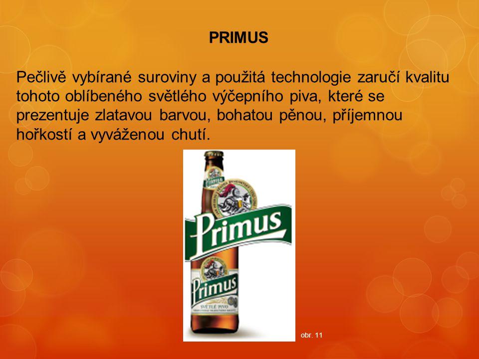 PRIMUS Pečlivě vybírané suroviny a použitá technologie zaručí kvalitu tohoto oblíbeného světlého výčepního piva, které se prezentuje zlatavou barvou,
