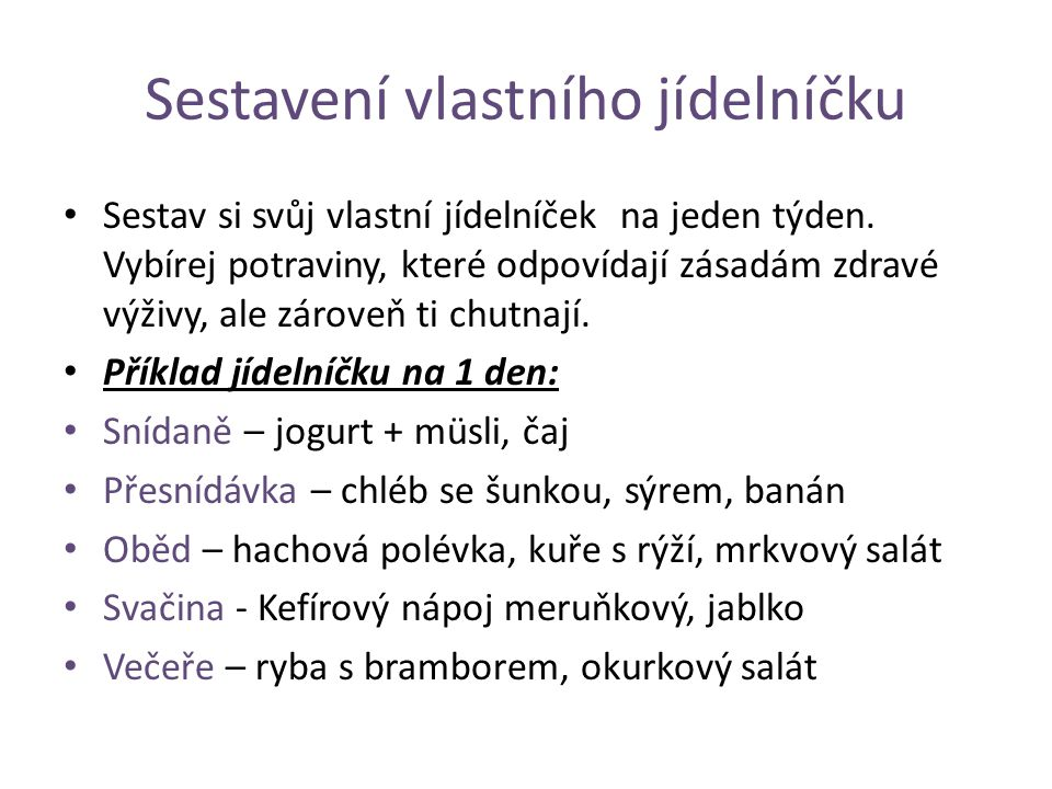 Příprava pokrmu Těstovinový salát 1 balení těstovin (např.