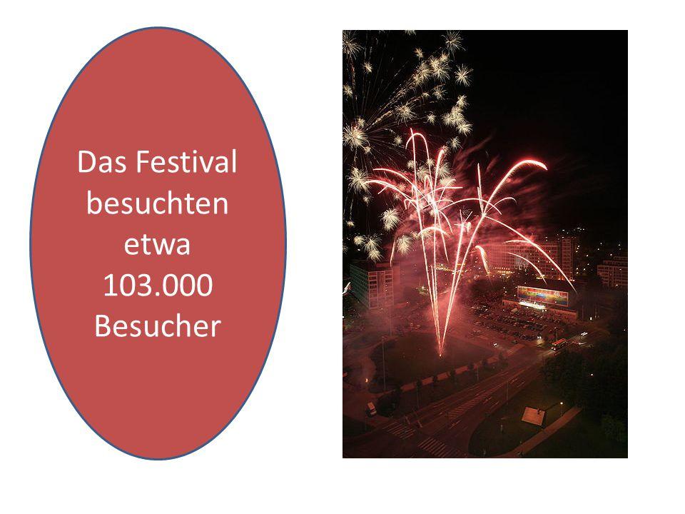 Das Festival besuchten etwa 103.000 Besucher