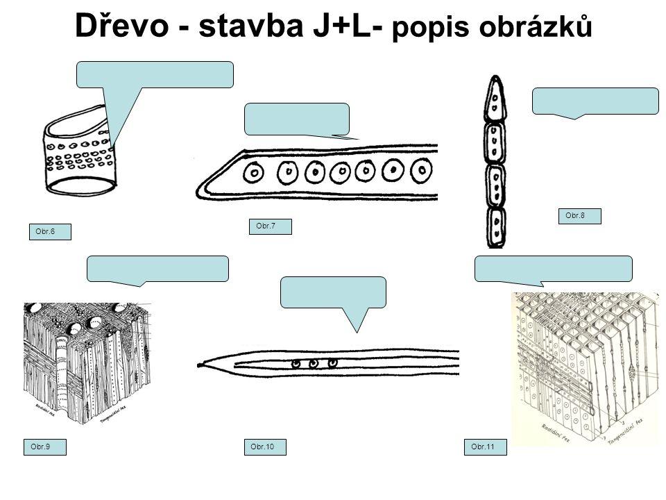 Dřevo - stavba J+L- popis obrázků Obr.6 Obr.7 Obr.8 Obr.9Obr.10Obr.11