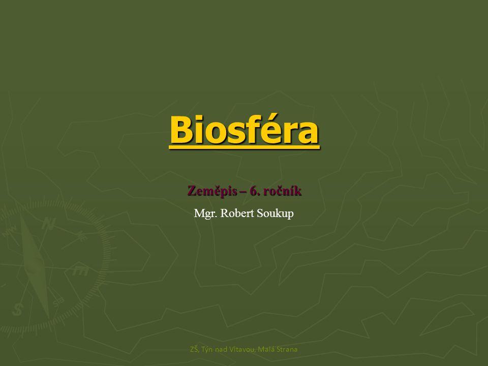 Biosféra Zeměpis – 6. ročník Mgr. Robert Soukup ZŠ, Týn nad Vltavou, Malá Strana