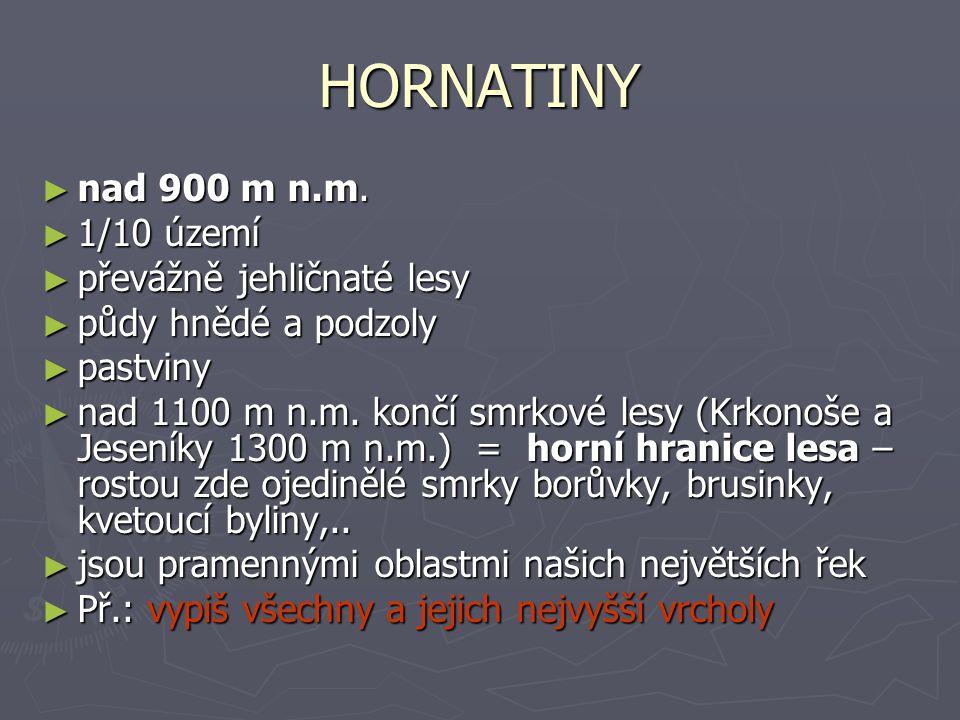 HORNATINY ► nad 900 m n.m.