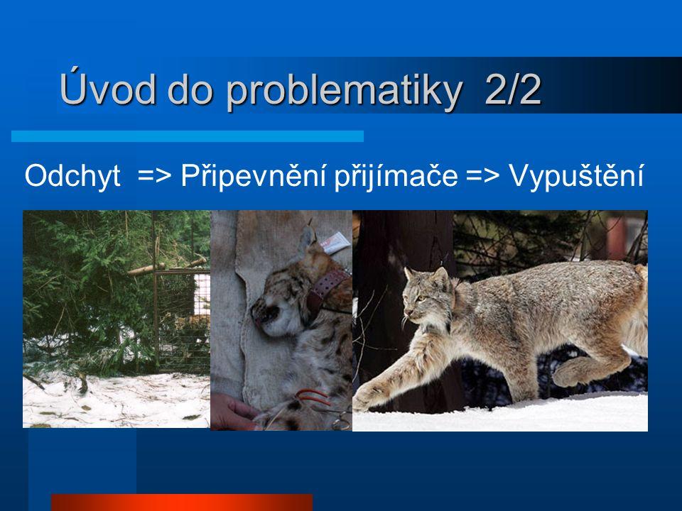 Úvod do problematiky 2/2 Odchyt => Připevnění přijímače => Vypuštění