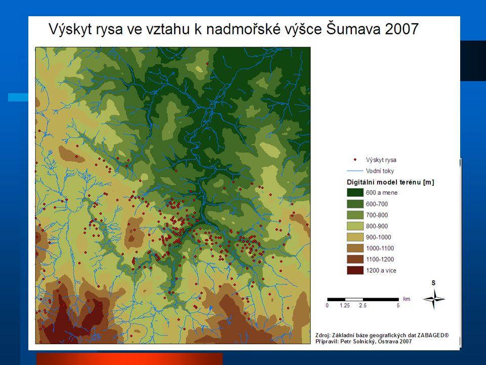 Dostupná data Základní topografické podklady –ZABAGED –NATURA 2000 Bodové vrstvy (Telemetrie, GPS) – 7 vrstev Doplňková data –Tabulková (lokalizace ry
